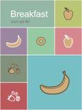 Breakfast icons Stock Photo
