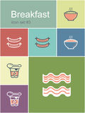 Breakfast icons Stock Photo