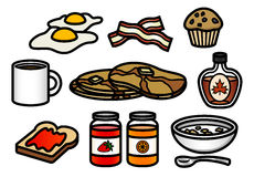 Breakfast Icons Stock Photography