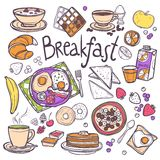 Breakfast Icons Set Royalty Free Stock Images