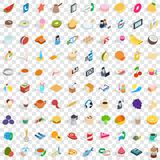 100 breakfast icons set, isometric 3d style. 100 breakfast icons set in isometric 3d style for any design vector illustration vector illustration
