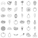 Breakfast icons set, outline style. Breakfast icons set. Outline style of 36 breakfast vector icons for web isolated on white background Royalty Free Stock Photography