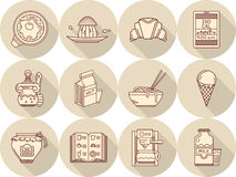 Breakfast icons set Royalty Free Stock Photo
