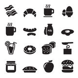 Breakfast icons set Stock Images