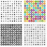 100 breakfast icons set vector variant. 100 breakfast icons set vector in 4 variant for any web design isolated on white Stock Photo