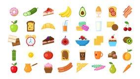 Breakfast icons set. Stock Photography