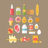 Breakfast illustration with fresh food and drinks vector illustration