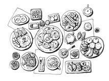 Breakfast illustration Stock Photos