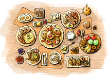 Breakfast illustration Royalty Free Stock Photography