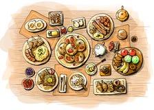 Breakfast illustration Royalty Free Stock Photography