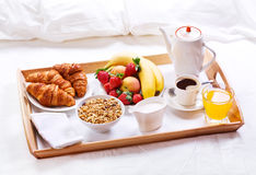 Free Breakfast In Bed Royalty Free Stock Photo - 55239765