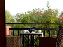 Free Breakfast In Hotel Room Stock Image - 21674241