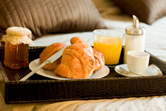 Free Breakfast In The Bedroom Royalty Free Stock Photo - 22593695