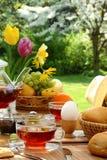 Breakfast In The Garden. Stock Photo