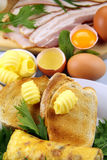 Breakfast Ingredients Royalty Free Stock Photography