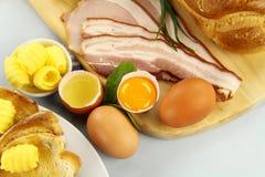 Breakfast Ingredients Royalty Free Stock Photos