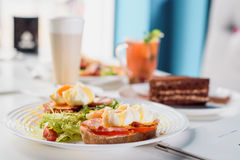 Breakfast in the interior Royalty Free Stock Photography