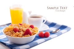 Breakfast isolated Royalty Free Stock Image