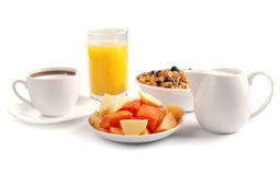 Breakfast isolated royalty free stock images