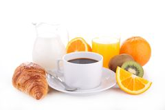 Breakfast isolated Stock Images