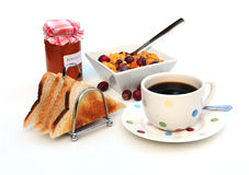 Breakfast items Royalty Free Stock Images
