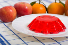 Breakfast from jelly fruits Stock Images
