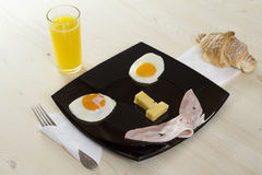 Breakfast with juice - smile Stock Photography