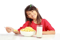 Breakfast for kid Royalty Free Stock Images