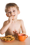 Breakfast of the kid Royalty Free Stock Photos