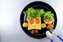 Breakfast for kids Stock Photo