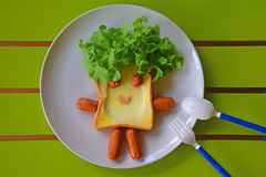 Breakfast for kids Stock Photography