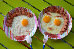 Breakfast for kids Royalty Free Stock Photography