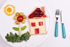 Breakfast for kids Royalty Free Stock Image
