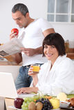 Breakfast in the kitchen Stock Photography