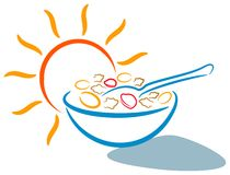Breakfast logo Stock Photography