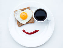 Breakfast with love Stock Photo