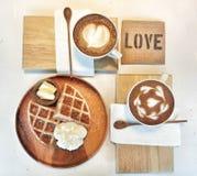 Breakfast with love. Breakfast in love Royalty Free Stock Photos