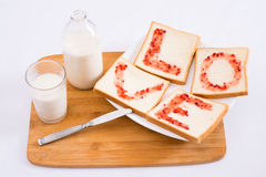 Breakfast with love Royalty Free Stock Images