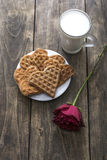 Breakfast with love Stock Image