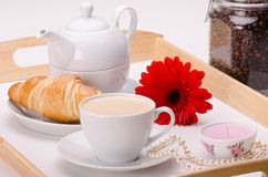 Breakfast with love Royalty Free Stock Photo