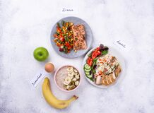 Free Breakfast, Lunch And Dinner. Day Menu Royalty Free Stock Image - 173160606