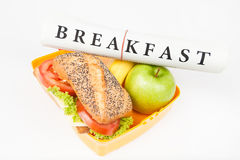 Breakfast and lunch box Royalty Free Stock Photo