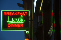 Breakfast Lunch Dinner Sign Royalty Free Stock Image