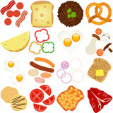 Breakfast and Lunch Ingredients Stock Image