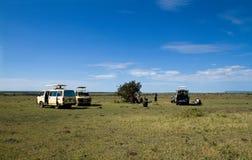 Breakfast on the Masai Mara Royalty Free Stock Photos