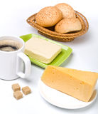 Breakfast meal with coffee Stock Photo