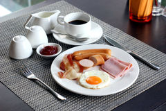 Breakfast meal with coffee Stock Photos