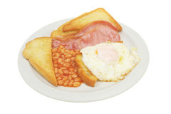 Breakfast meal on a plate Stock Photography