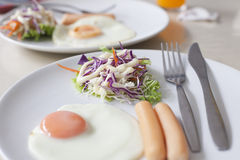 Breakfast meal on table Royalty Free Stock Image
