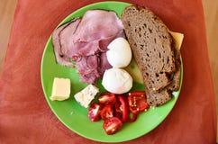 Breakfast for men Stock Images